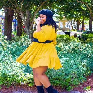 Mustard Parisian Dress